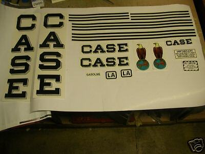 Case Model La Tractor Decal Set New