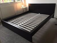 CHEAP IKEA MALM SUPER KING BLACK BED FOR SALE