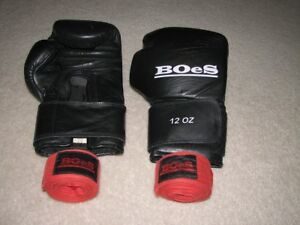 Adult Boxing Gloves with hand wraps $40