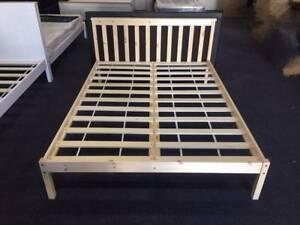 Brand New Double/Queen Pine Wood Bed in Original Colour