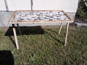 Vintage Metal Garden Table Burleigh Waters Gold Coast South Preview