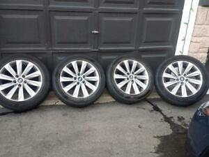 HYUNDAI SONATA 2015 FACTORY 17 INCH WHEELS WITH HANKOOK HIGH PERFORMANCE  ' V ' RATED 215 / 55 / 17 ALL SEASONS.