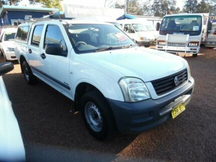 2003 Holden Rodeo RA LX White 5 Speed Manual Crew Cab P/Up