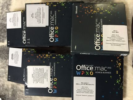 Microsoft Office for Mac Software Packs x 6