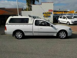 2006 Ford Falcon BF Mk II Super Cab White 4 Speed Automatic Cab Chassis