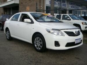 2010 Toyota Corolla ZRE152R MY10 Ascent White 4 Speed Automatic Sedan Wangara Wanneroo Area Preview