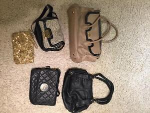 6 like new bags for sale real leather.