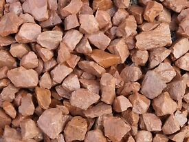 20 mm red garden and driveway chips/stones/ gravel