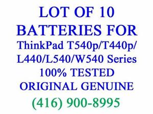 LOT OF 10 x GENUINE Lenovo Battery for ThinkPad T540p/T440p/L440/T540/L540/W540 Series Laptop Batteries Original