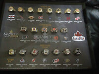 Molson NHL Stanley cup collector rings. Full set of 20!!!!