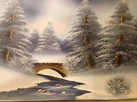 Barrister winter scene small painting