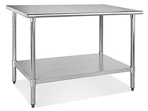 "Stainless Steel Worktable 48"" X 30"""