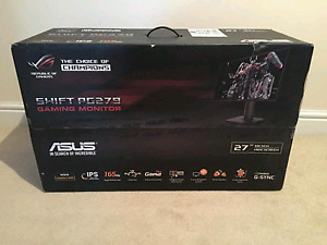 "BNIB ASUS ROG PG279Q Black 27"" WQHD IPS 2560X1440 Gaming Monitor"