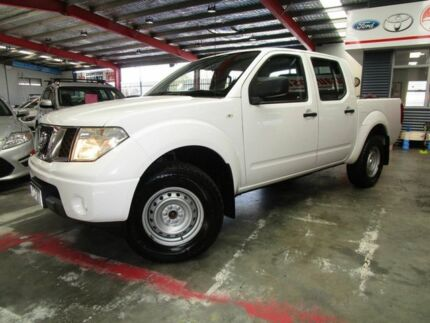 2012 Nissan Navara D40 S6 MY12 RX White 6 Speed Manual Utility