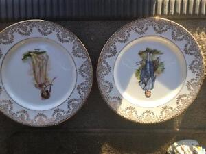 """Blue Boy and Pink Lady Plates 10"""""""