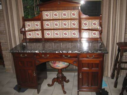 Marble topped Dressing Table, Washstand, Servery - unmarked