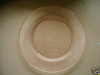 Pink Homespun Dinner Plate- Jeannette Glass