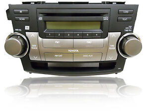 Toyota Highlander 2008 CD Changer & Ampoule