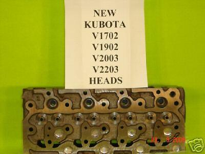 New Kubota V1902 Cylinder Head Wvalves