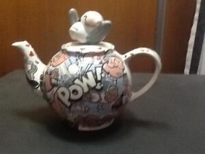Popeye Teapot with Olive Oyl on the Lid - Rare