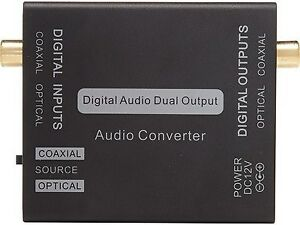 new Coaxial to Toslink Optical Digital Audio Converter