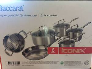 BACCARAT 6 PIECE ICONIX COOK SET STAINLESS STEEL Balmain Leichhardt Area Preview