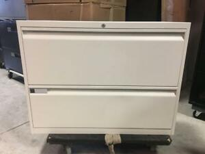 Teknion 2 Drawer Lateral Filing Cabinets in White - $150