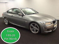 £212.39 PER MONTH STUNNING 2010 BMW 320 2.0TD M SPORT COUPE DIESEL MANUAL 2 DOOR