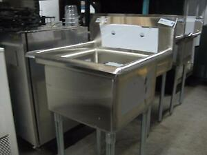 Stainless steel sinks, faucets,Grease traps, tables, shelves on Sale