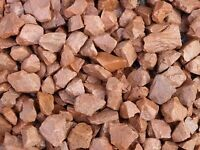 20 mm red garden and driveway chips / stones / gravel
