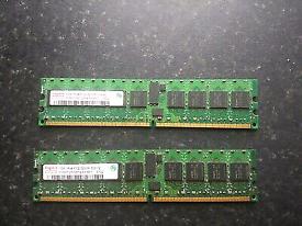 HYNIX HYMP512R724-E3 1GB 1RX4 PC2-3200R MEMORY