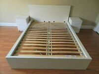 Ikea Malm Double Bed frame White
