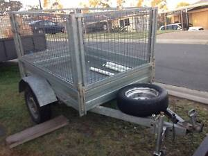 galvinised 6x4 with cage trailer excellent condition with rego Beenleigh Logan Area Preview