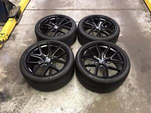 19 BMW Staggered Wheels 5x120 and Staggered Tires (BMW Cars) ***Matt Black Wheels*** Calgary Alberta Preview