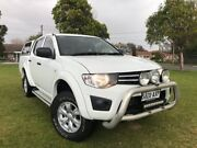 2013 Mitsubishi Triton MN MY13 GLX Double Cab White 4 Speed Sports Automatic Utility Somerton Park Holdfast Bay Preview