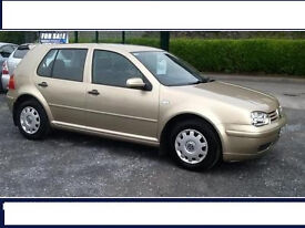 VW Golf 1.4 V16 2003 5 Door Genuine Low Milage and One Lady Owner Engine like New