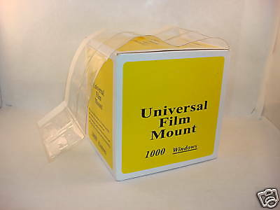 4 Boxes - Dental Universal Cut Apart X-ray Film Mounts - Clear
