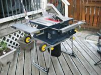 """10"""" Mastercraft Portable Table Saw (Used once)"""