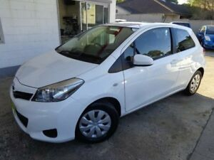 2014 Toyota Yaris NCP130R YR White 4 Speed Automatic Hatchback Sylvania Sutherland Area Preview