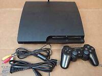 ps3 slim 250Gb Console with 2 controllers and 3 games - can deliver within London