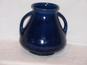 Antique Japanese Awaji Ceramic Monochrome Sacrificial Blue Vase Peterborough Peterborough Area image 1