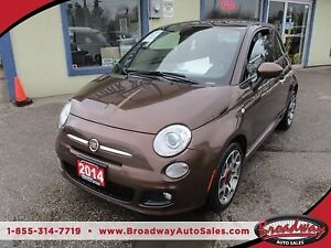 2014 Fiat 500 FUEL EFFICIENT 'SPORT-EDITION' 4 PASSENGER 1.4L -
