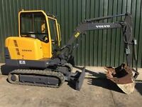 2009 VOLVO EC25 EXCAVATOR Very good condition, fully serviced ready for work.