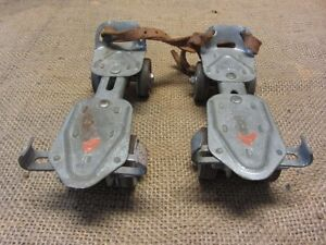 3 pairs of old roller skates. Vintage Antique.