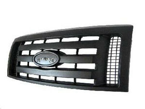 NEW 2009-2014 FORD F150 XL PRIMED BLACK GRILLE