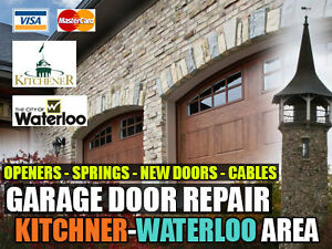 Kitchener-Waterloo Same Day Garage Door Services (519) 885-2897