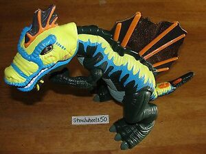 LIKE NEW!FISHER PRICE MOTORIZED ROARING LIGHTS T REX DINOSAUR
