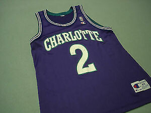 new concept 008ec 421cf Charlotte Hornets Larry Johnson Champion Jersey 44 (l)