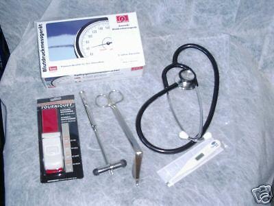 Diagnostik Set für Notfallkoffer,Blutdruckmessgerät Rettungsdienst Notarzt DRK