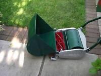 Vintage retro lawnmower - Ransomes Ajax cylinder push mower